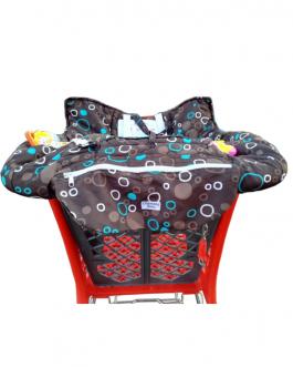 Protège chariot bébé de large taille avec harnais de sécurité