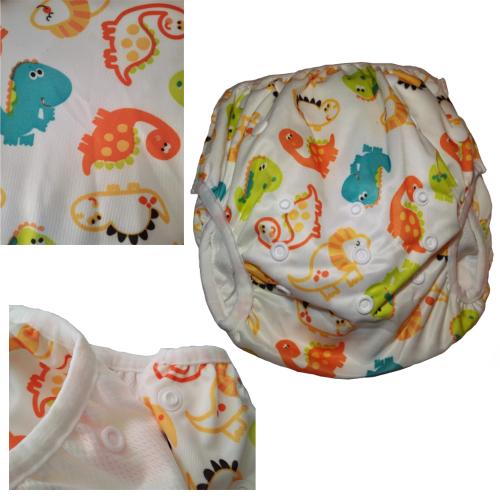 couche ajustable maillot de bain bébé dinosaure
