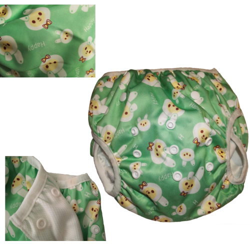 couche ajustable maillot de bain bébé lapin