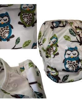 Couche maillot de bain lavable ajustable pour bébé de 3-24 mois